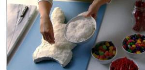 easter bunny cake coconut sprinkle